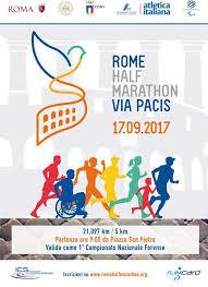 Prima edizione della Rome Half Marathon Via Pacis