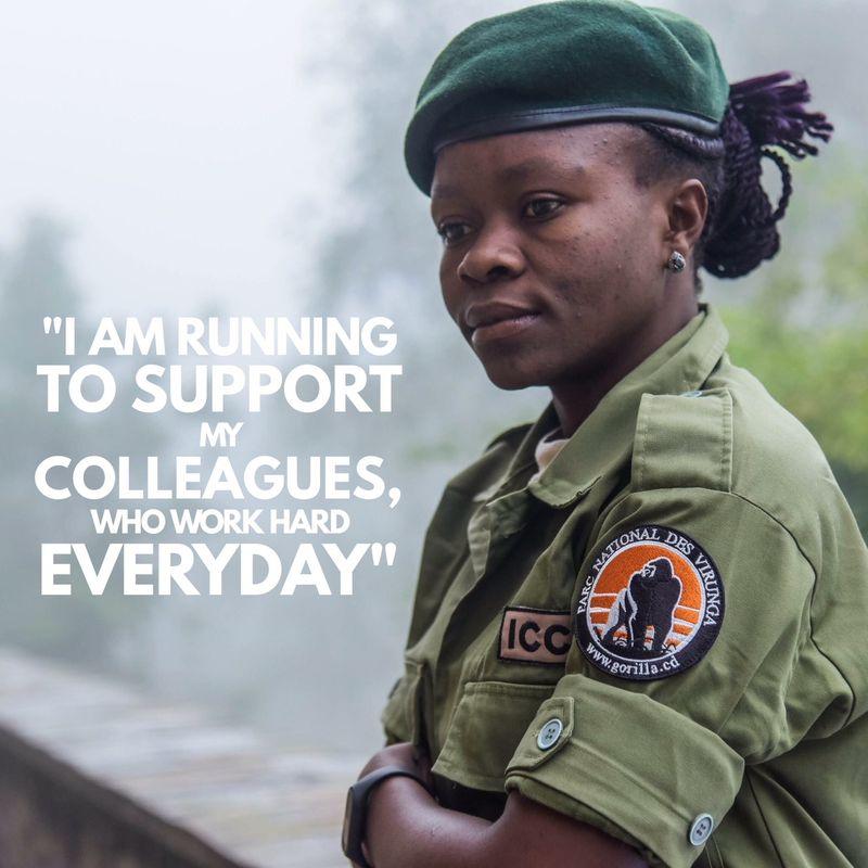 Angele alla Maratona di Londra per i gorilla del Congo