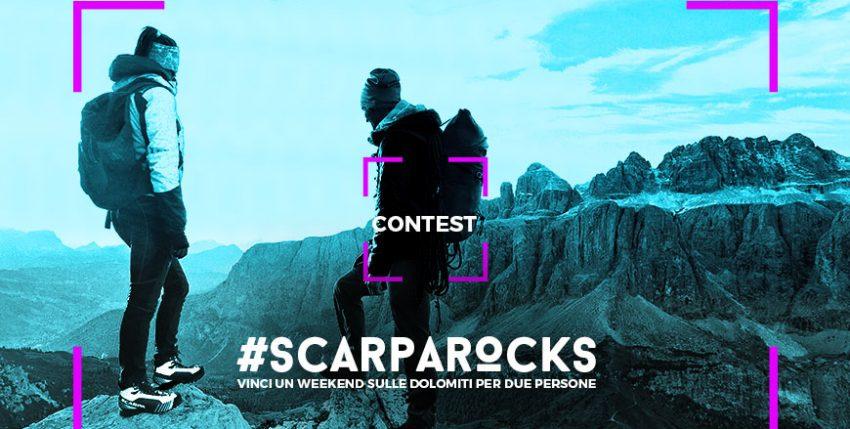 #SCARPAROCKS ecco il concorso che ti porta in montagna
