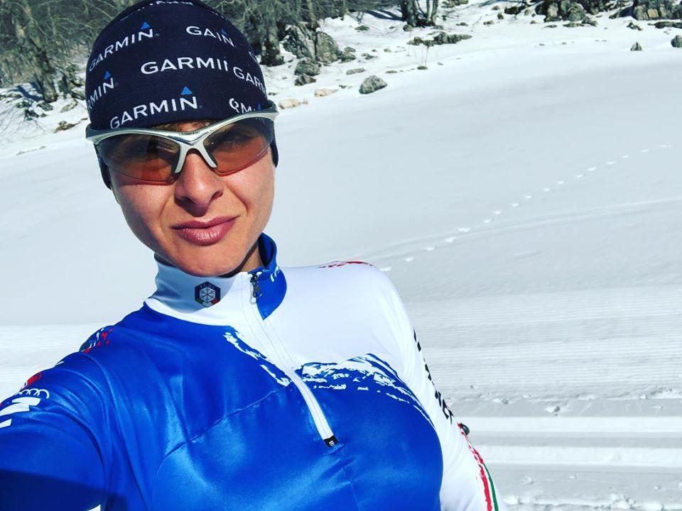 Camilla Cignitti dallo sci di fondo alle vette dei suoi Simbruini