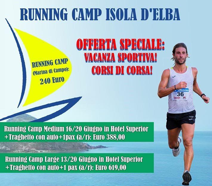 """ESTATE 2020; """"RUNNING/CAMP"""" Isola d'Elba scopri …l'isola correndo"""