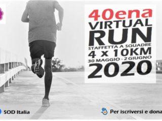 Le nostra, oramai di tutti, 40ena Virtual Run