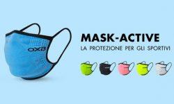 Anche nello sport la protezione di Oxyburn con la nuova Mask Active