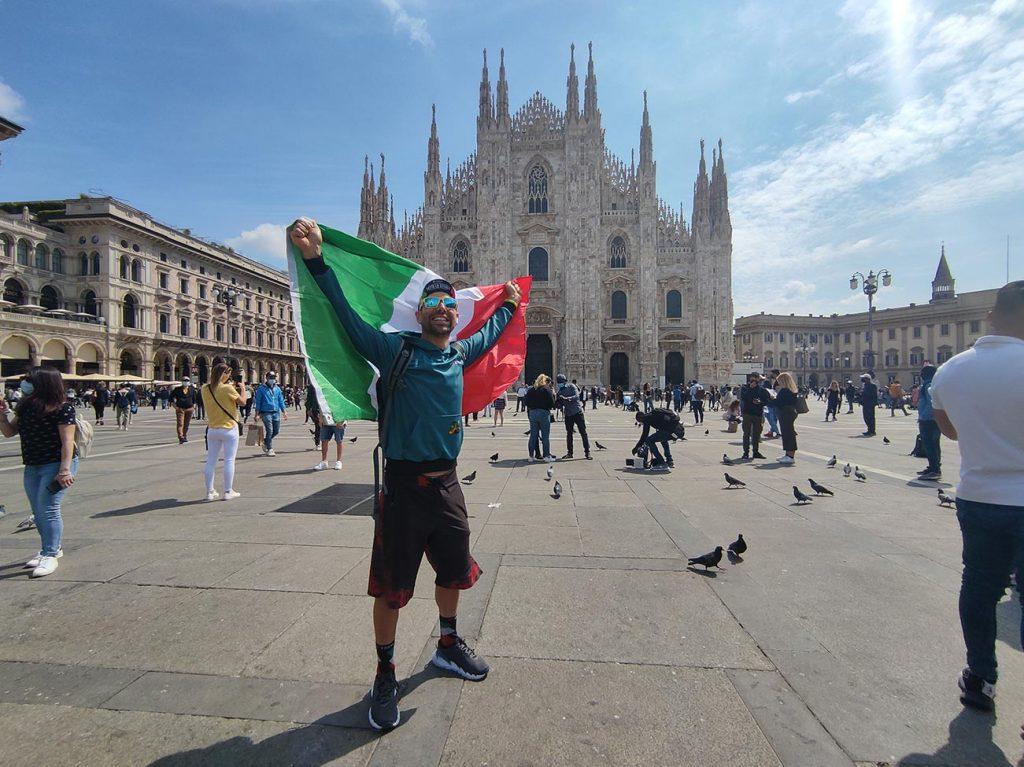 viaggio in bici - Giuseppe Bica - Milano