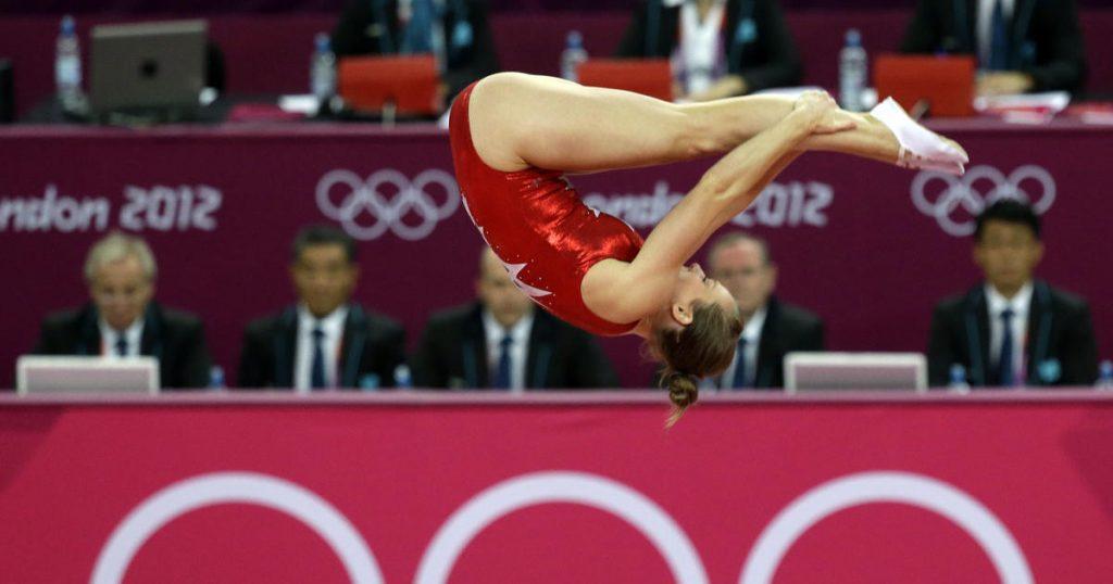 trampolino elastico ginnastica artistica - trampolino elastico olimpiadi