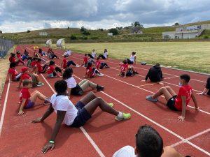 ragazzi di sport senza frontiere che si allenano